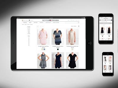 Webshop development for RIVERWOODS fashion brand fashion app fashion webshop