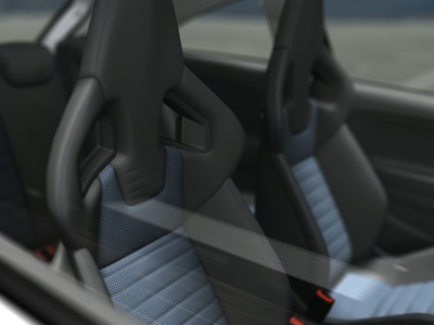 OPEL Corsa OPC Recaro Seats colour rendering 3d artist 3d art