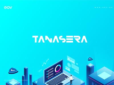 TANASERA | BrandBook media player media logo media ui illustrator flat logo vector illustration graphic design art design branding