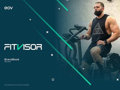 Fitvisor | BrandBook media illustrator logo illustration art design health sport fitness graphic design gym branding