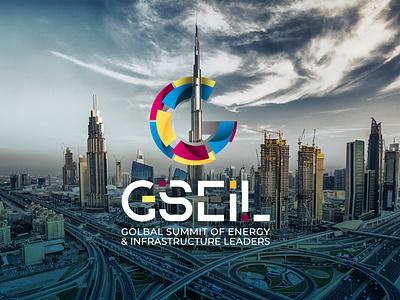 Global Summit of Energy & Infrastructure Leaders | Concept logo typography graphic design illustration vector art branding