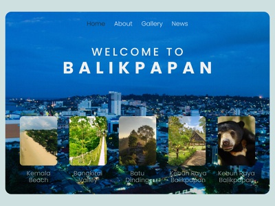 Balikpapan Landing Page landingpage website ui design