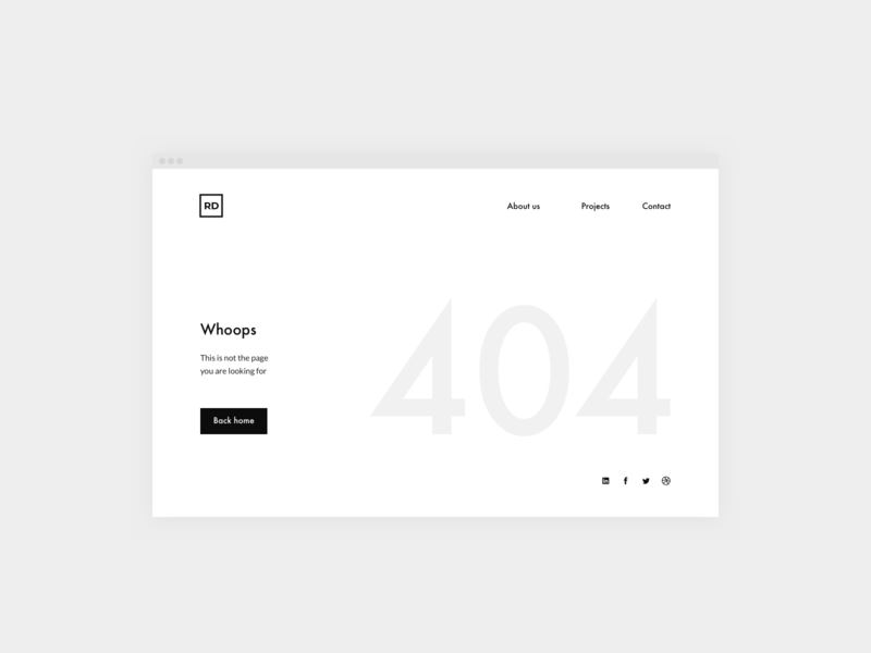 Daily UI 008 — 404 Page design system ux typography design dailyui interface clean ui web 404 error 404 page error 404