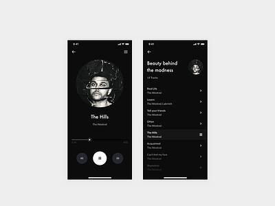 Daily UI 009 — Music player dark mode design system typography ux design dailyui ui app interface clean daily ui 009 music player app daily ui music player