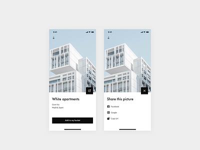 Daily UI 010 — Social share button bauhaus icon design design system ui app interface clean daily ui daily ui 010 dailyui