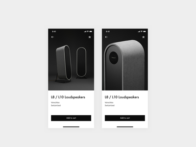 Daily UI 012 — E-Commerce Shop daily ui 012 minimal ux typography daily ui daily minimalistic minimalissimo vonschloo speakers shop ecommerce icon design system dailyui ui app interface clean