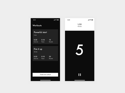Daily UI 014 — Countdown timer design system futura bold progressive hiit workout timer countdown countdown timer minimalistic minimal uidesign typography ui app interface clean daily ui 014 dailyui daily ui