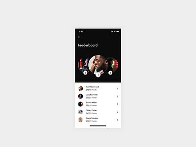 Daily UI 019 — Leader Board minimal minimalistic lato futura ranking rank profiles design system ui app interface clean mobile leaderboard leader board daily ui 019 daily ui dailyui