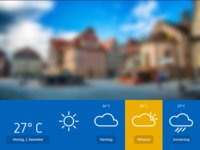Interface weather app