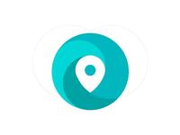 Map Dot Logo Illustration no2