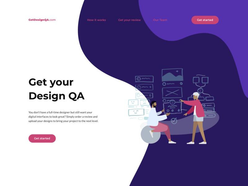 GetDesignQA.com review qa web branding vector ui design clean interface illustration logo