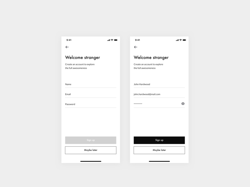 Daily UI 001 — Sign up page design system form signup uidesign design clean challenge ui daily dailyui 001 dailyui