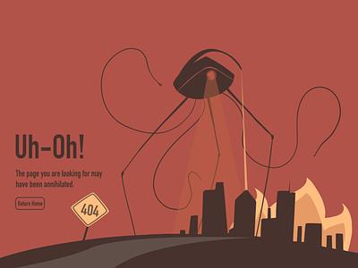 404 Error: Page Annihilated retro design weeklywarmup 404error illustration
