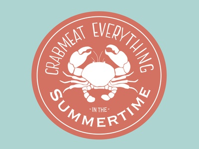 Crabmeat Everything in the Summertime badge summer weeklywarmup illustration design