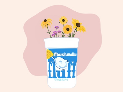 Wildflower Fluff procreate ipadpro modern art dribbblers illustration