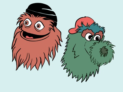 Gritty & the Phanatic sports design philly procreate phillies gritty philadelphia illustration