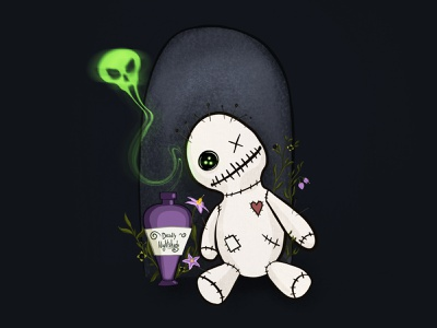 Nightshade inktober spooky weeklywarmup illustration