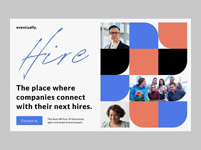 Hiring Software Company Landing Page web design agency firm hiring red blue web design website flat minimal web typography branding ui logo illustration design