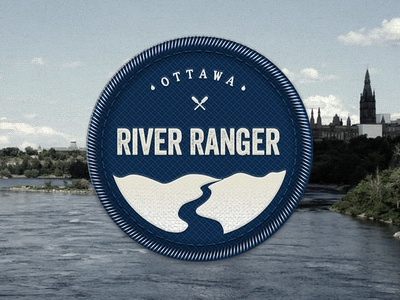 River Ranger logo badge logo