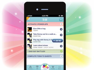 Home screen for SuperBetter App app superbetter