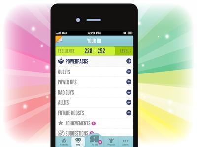 Superbetter HQ app superbetter