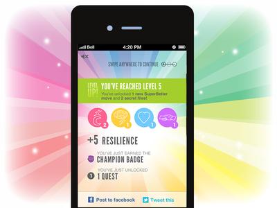 Celebrate a Level-up for SuperBetter app superbetter