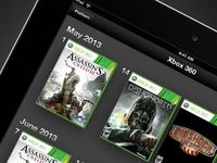 Game Calendar video game calendar xbox 360 console ipad ui app