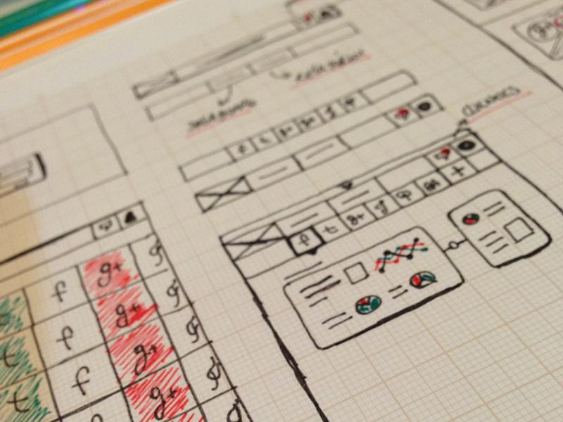 Early Wireframes wireframe web app social dashboard sketch ux ia