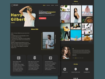 Landing Page - Personal Branding Landing Page webdesign ui  ux personal website photographer website designer ui designer landing page concept photographer personal branding branding agency website branding uidesign uiux landing design landingpage landing page