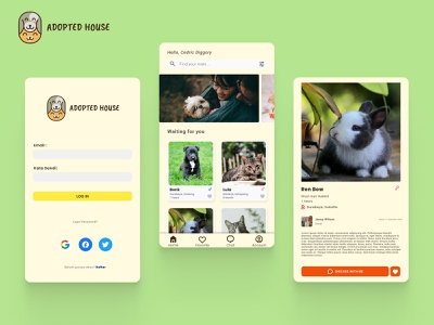 Pet Adoption Mobile App uxui branding design branding design animal pet adoption pet mobile app design mobile design mobile app ux uidesign uiux ui mobile ui mobile