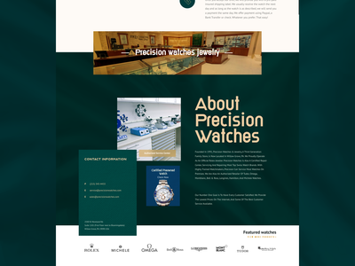 Watches Landing page colorful modern minimal sleek clean branding ui home page web design web page landing page rolex gold luxury watches