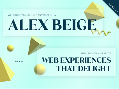 Re-design of Personal Website! 3d art branding web ui