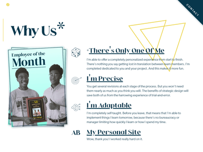"""The """"Why Us"""" Section of My New Website! value proposition website design web design personal website personal branding"""