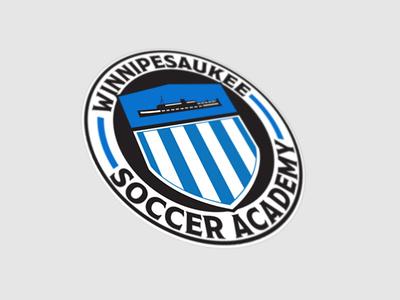 Winnipesaukee Soccer Academy sports academy team blue soccer winnipesaukee logo