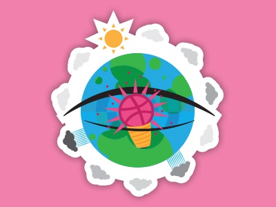 But what is it? earth clouds rainy sunny together inspiration eye world dribbble