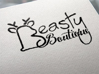 Beasty baby logo deer beast