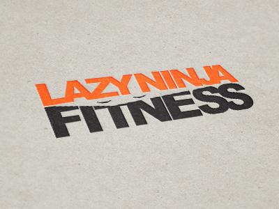 Lazy Ninja Fitness sleepy fitness ninja logo lazy