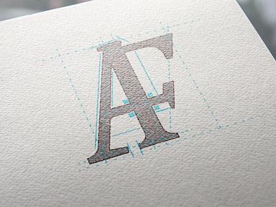 Monogram Logo blueline architect alf af monogram