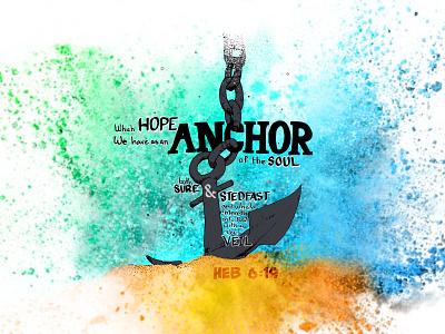 Anchor inspiration splash water anchor inktober