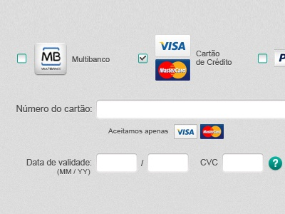 Payment detail payment credit card