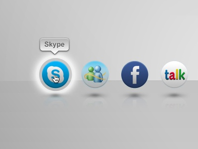 Social Network - Skype Login skype login button mouseover social network
