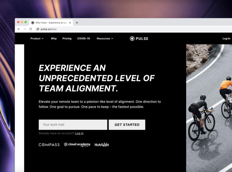 Why Pulse? pulse minimal branding design ui web getthepulse product page landing page