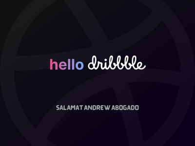 Hello dribbble salamat hellodribbble