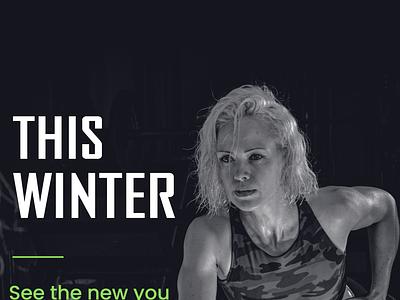 02   Poster  Gym minimal photoshop art design branding