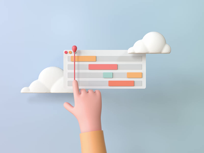 ProtoPie Interaction Recipes 3D Artwork 3d illustration interactiondesign collaboration animation interaction recipe kanban 3d board 3d hand 3d cloud communication team artwork inspiration protopie