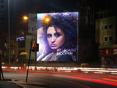 Billboard Mock-Up billboard mock-up advertising billboard hoarding hoarding modk-up mock up photo-realistic poster poster mock-up poster mockup