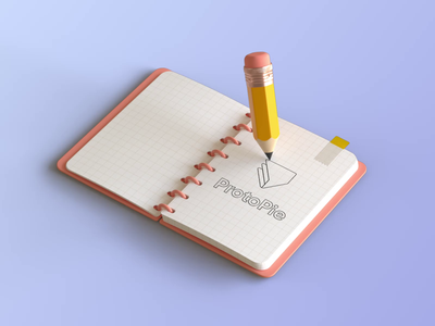 ProtoPie Branding pen pencil 3d pencil logo mark typography redesign sketchbook tech logo logo sketch notes branding logo protopie