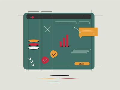 Web grids ux ui design art illustration graphic design digital
