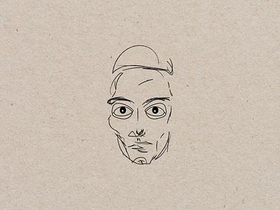 Tired portrait portrait tired portrait design art illustration graphic design digital