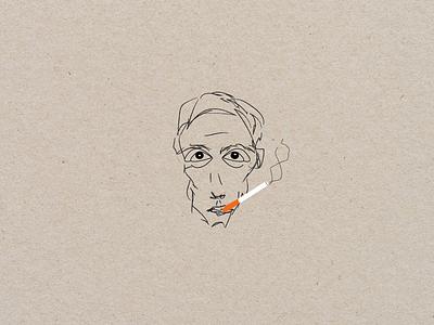 Portrait of a smoker portrait of a smoker vector branding boy design art illustration graphic design digital